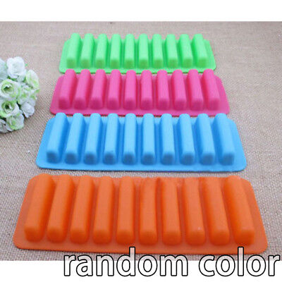 10cell Water Bottle Drinks Long Ice Sticks Chocolate Fingers Cake Silicone Mould