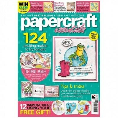 Papercraft Essentials Magazine Issue 158 Free Make A Splash Die & Stamp Stencil