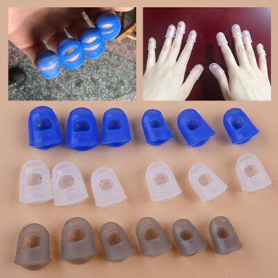 12pc Silicone Guitar Ukulele Finger Guards Fingertip Thumb Picks Protectors Band