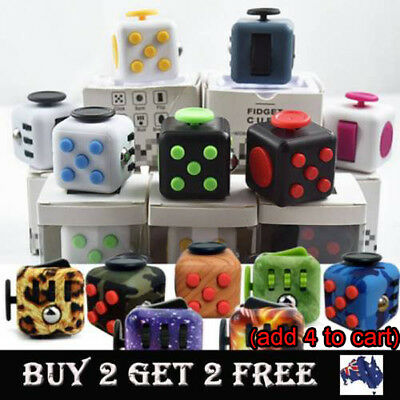 3D Fidget Hand Finger Spinner Cube Focus Stress Reliever Toy For Kids Adults AU