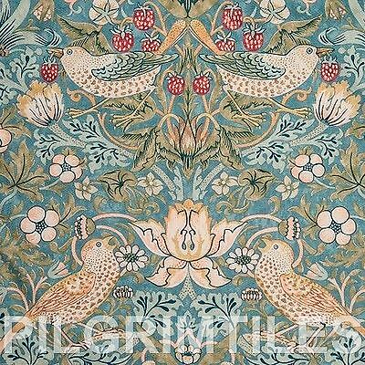 Metric Porcelain Tile William Morris Strawberry Thief Slate Walls Floors Kitchen