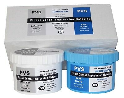 Dental VPS Putty Impression Material Vinyl Polysiloxane 300 ml (500 gm)