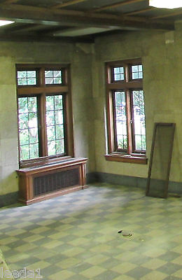 Early 1900's Whole Casement 4 Leaded Windows Vintage Architectural Salvage