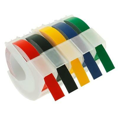 Compatible for DYMO 3D Plastic Embossing Labels Label Makers 5 Colors 5 Rolls