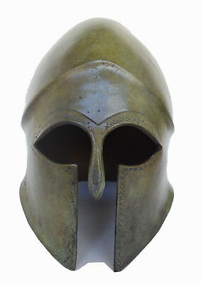 Ancient Greek Helmet solid Bronze aged artifact collectible real size