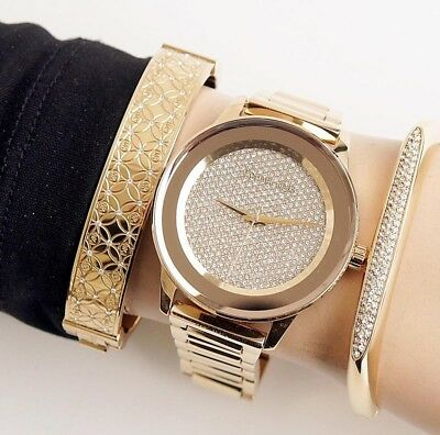 b6f22edd1719 NEW Michael Kors MK6209 Kinley Pave Crystal Dial Gold Women s Ladies 42mm  Watch