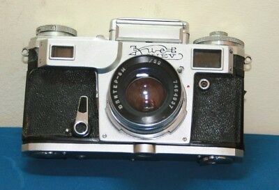 Vintage KIEV 4A 35mm RANGEFINDER CAMERA + LEATHER CASE