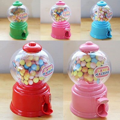 Cute Mini Candy Dispenser Machine Gumball Snacks Storage Box Kids Coin Bank