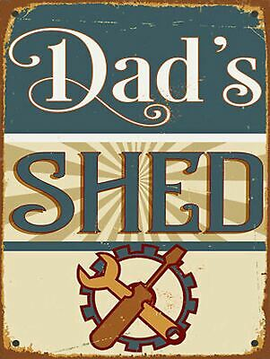 Dad's Shed, Retro metal Sign/Plaque, Gift, Man Cave