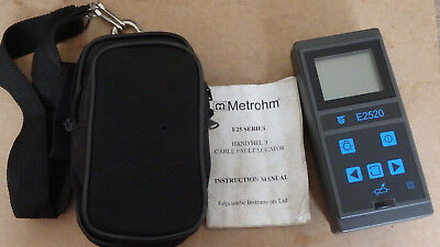 Metrohm e2520 portable cable fault locator reflectometer for repair / parts