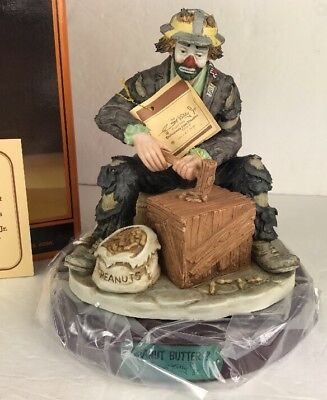 1991 Emmett Kelly Peanut Butter Signed Porcelain Figurine Limited 657/996