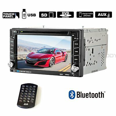"""6.2"""" Car Stereo Radio DVD CD 2 DIN MP5 Player Touch Screen AUX Bluetooth In-Dash"""