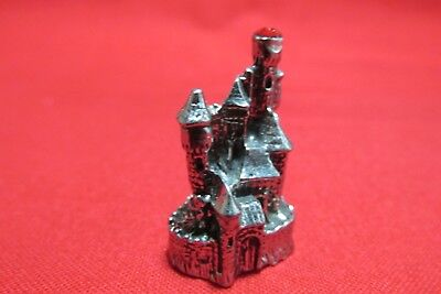Pewter Fantasy Castle With Red Crystal