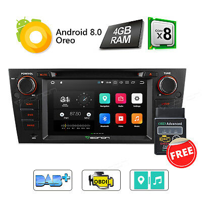 """OBD2 Android 8.0 8-Core Car DVD GPS for BMW E92 3G/4G 7""""Radio Octa Core Stereo"""