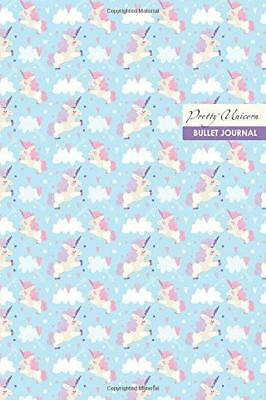 Pretty Unicorn Bullet Journal: Compact 6 x 9 inches 120 Cream Paper Blank Dot