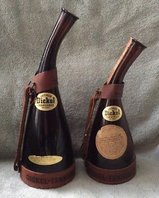 2 - Vintage George Dickel Tennessee Whiskey Souvenir Bottles