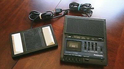 Panasonic Micro-Cassette Transcriber RR-930 With Footpedal RP-2692 Tested