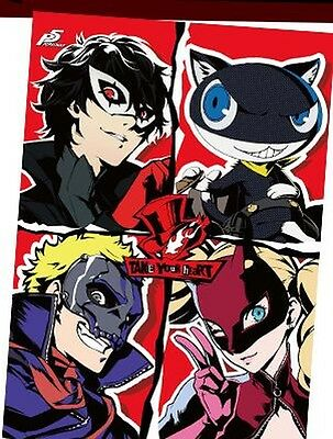 Persona5 Phantom Thieves of Hearts B2 Size Tapestry Wall Scroll Persona 5