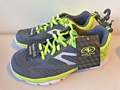 Boys Running Sneakers GREY/Lime