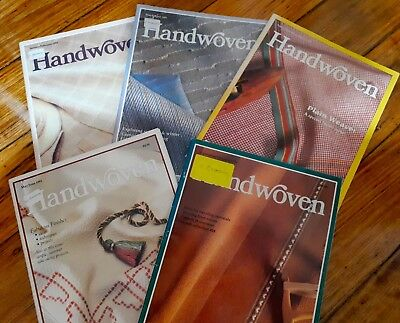 Handwoven magazine 5 x 1991: recycled weaving!!