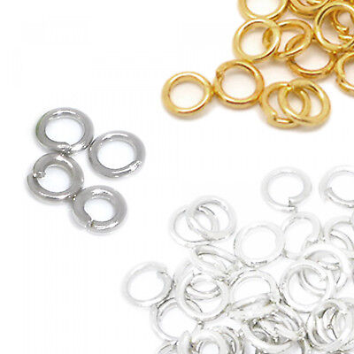 100 Bending Rings 3mm Open Small Silver Gold Eyelets Connection