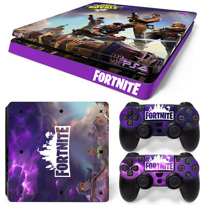 FORTNITE PS4 SLIM Playstation 4 Wrap Skin Sticker Decal CONSOLE + CONTROLLERS