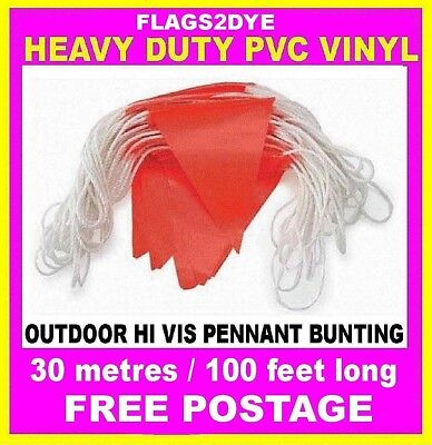 hi vis Vinyl pvc bunting flags Australian made includes AUSTRALIA POST TRACKING