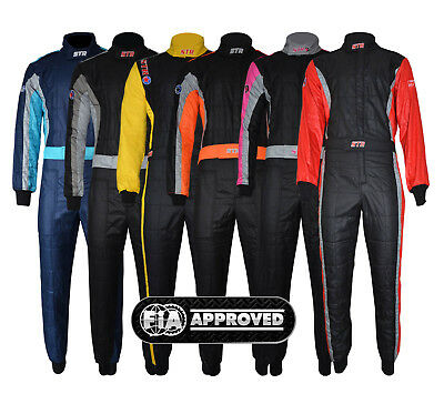 STR Club Race Suit Triple Layer FIA Approved - Ideal for Rally/Circuit Racing