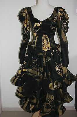 VINTAGE 80s iconic STUDIBAKER HAWK collectible PROM Formal PARTY dress DESIGNER
