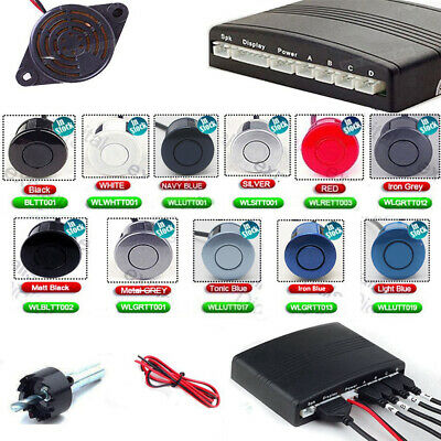 Car Parking Rear Backup Reverse Reversing Sensors Four Audio Kit Buzzer Alarm UK