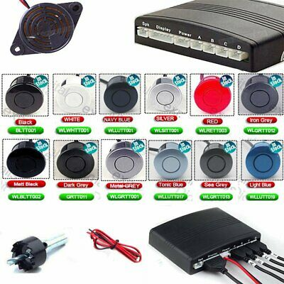 Reversing Parking Sensor Car 4 Sensors Audio Buzzer Alarm UK fast delivery