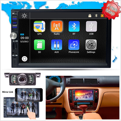 7'' Bluetooth Touch Car MP5 Player Video Stereo Head Unit Radio Reverse Camera