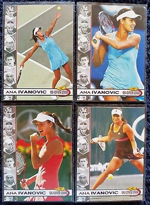 LOT 4 cards Ana IVANOVIC 2008 US Open #01/10 Tennis Centre Court Productions