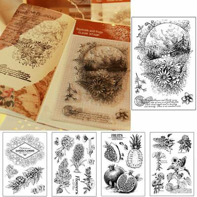 Clear Rubber Stamp Silicone Scrapbooking Photo Decor Mestier di carta DIY