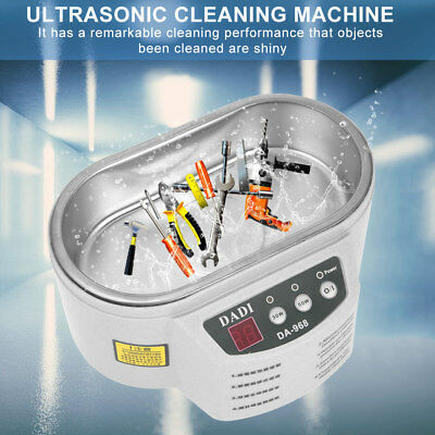 Jewelry Coins 600ml Ultrasonic Cleaner Dental Tank Heater Cleaning Equipment inm