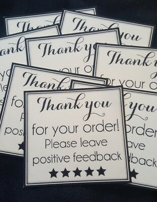 PROMO OFFER!!Thank you for your order cards X20 pieces in cream