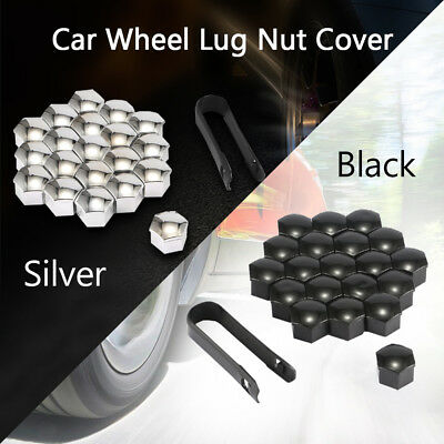 20pcs 17mm Vehicle Car Wheel Lug Bolt Nut Covers Caps With Removal Clip Tool