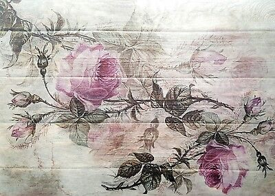 Rice Paper for Decoupage, Scrapbooking, Sheet Craft Vintage Roses on the Board