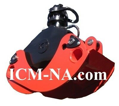"""54"""" ICM Log Grapple with Continuos Rotation Rotator for logs/brush/waste"""