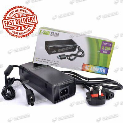 UK Plug AC Power Adapter Supply Charger Cable Replacement For Xbox 360 Slim