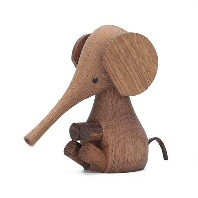 Nordic puppet Denmark puppet solid wood creative long nose elephant