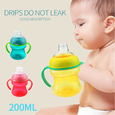Kids Training Baby Cup 200ML 3 Colors Sippy Lovely Toddler Feeding Newborn Cup