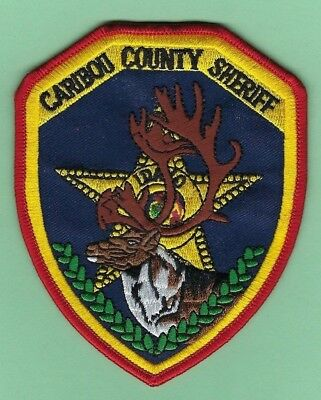 CARIBOU COUNTY SHERIFF's OFFICE PATCH ~ IDAHO ~ BEAUTIFUL ARTWORK & NICE COLORS