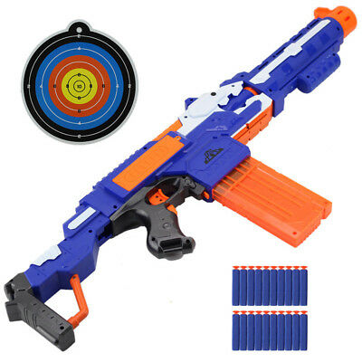 New Nerf-N Elite Series Gun Bluster Toy With Target And 20 Bullets For Kids