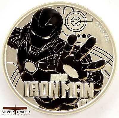 2018 1oz Iron Man Marvel Series 1 ounce Silver Bullion Coin unc: