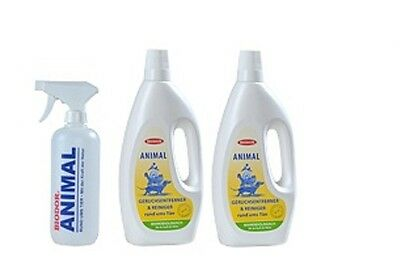 2 x Biodor Pet Animal 1000 ml + 1 Sprühflasche