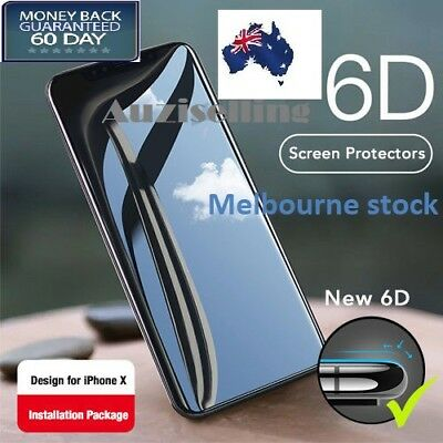 6D Full Cover iPhone XS MAX XR Screen Protector Diamond Tempered Glass for Apple