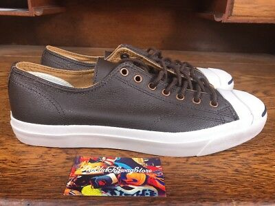 3332b1ff0b4a Converse Jack Purcell JP JACK OX Low Top Shoe Brown Off-White Leather  132758C