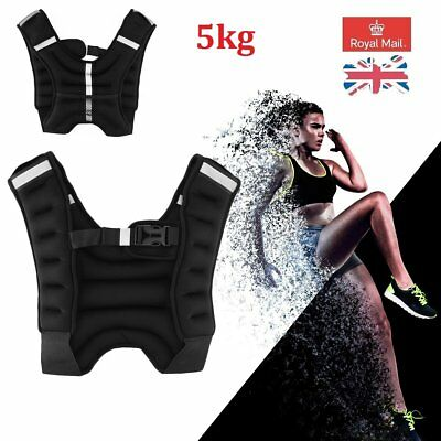 Weighted Vest 5kg Training Running Fitness Sports Gym Exercise Jacket Crossfit