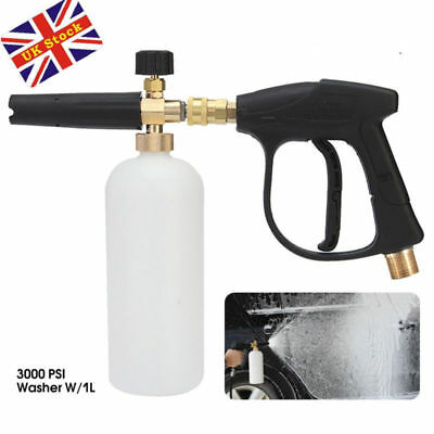 High Pressure Washer Jet Snow Foam Cannon Gun Car Wash Bottle Lance Adjustable